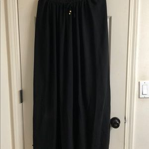 Mango black maxi skirt